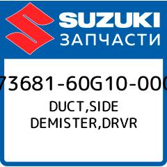 DUCT,SIDE DEMISTER,DRVR, Suzuki, 73681-60G10-000 фото