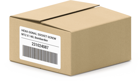 HEXA GONAL SOCKET SCREW M12 X 140, Bombardier 231024087 oem parts