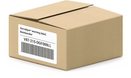 Decalque* warning label, Bombardier V87-215-DGF000LL oem parts