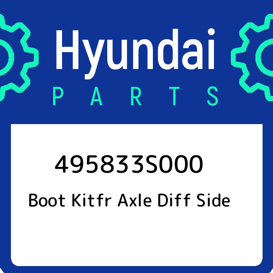 Front Genuine Hyundai 49583-3S000 Side Differential Axle Boot Kit