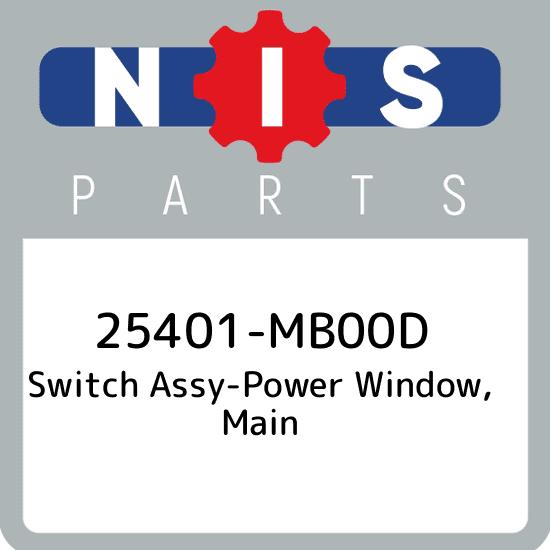25401-MB00D Nissan Switch assy-power window New Genuine OEM Pa main 25401MB00D