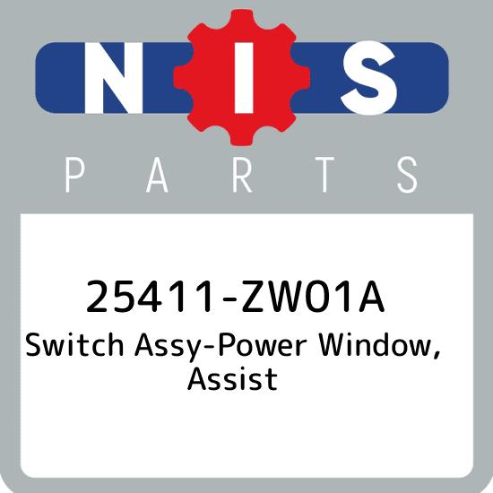 Genuine Nissan 25411-ZL00A Power Window Switch Assembly