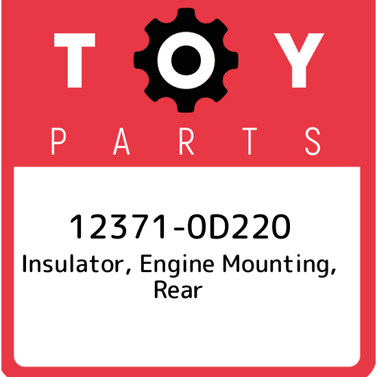 New Genuine OEM 12371-22060 Toyota Insulator rear 1237122060 engine mounting