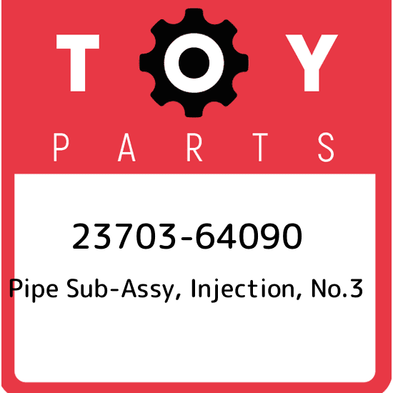 2370330050 Genuine Toyota PIPE SUB-ASSY INJECTION NO.3 23703-30050