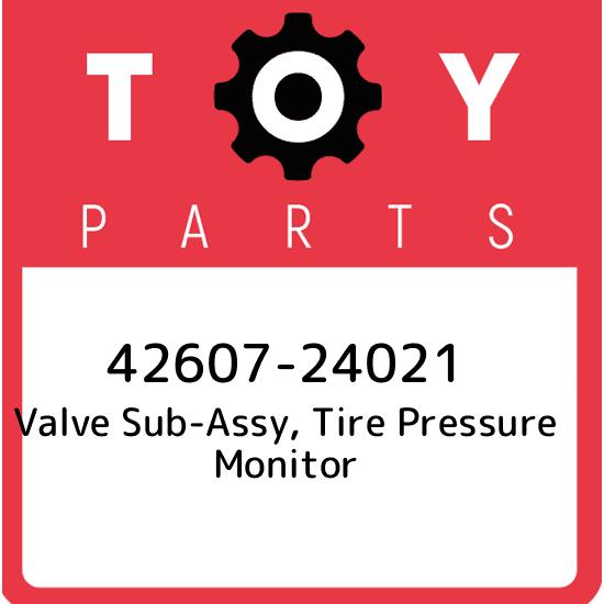 TOYOTA Genuine 42607-06011 Tire Valve Sub-Assembly