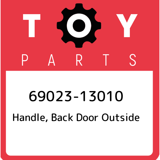 OUTSIDE BACK DOOR 69090-60010 Toyota OEM Genuine HANDLE ASSY