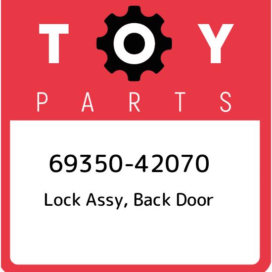 Genuine Toyota 69350-35020 Door Lock Assembly
