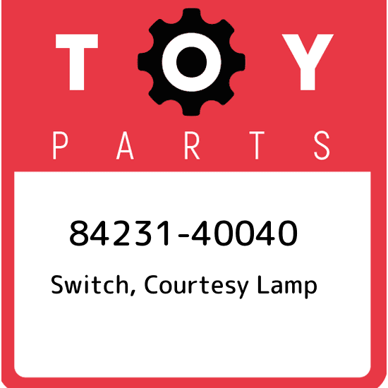 Toyota 84231-60020 Courtesy Lamp Switch Assembly