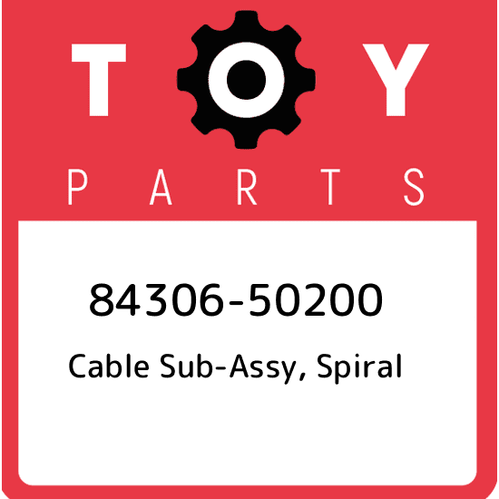 SPIRAL 84306-50200 Toyota LEXUS OEM Genuine CABLE SUB-ASSY