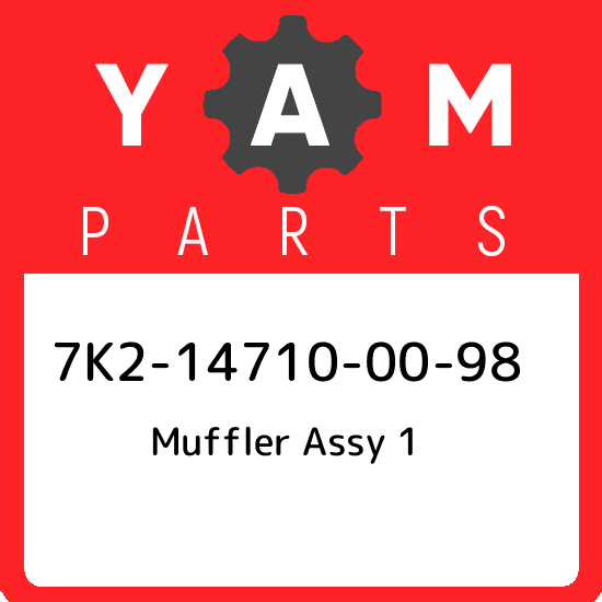 Muffler; 8AB147140100 Made by Yamaha Yamaha 8AB-14714-01-00 Gasket