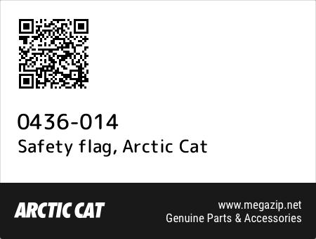 Safety flag, Arctic Cat 0436-014 oem parts