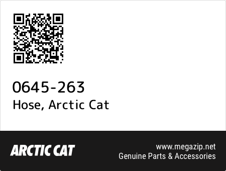 Hose, Arctic Cat 0645-263 oem parts