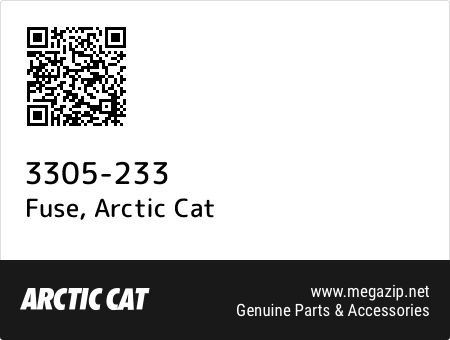 Fuse, Arctic Cat 3305-233 oem parts