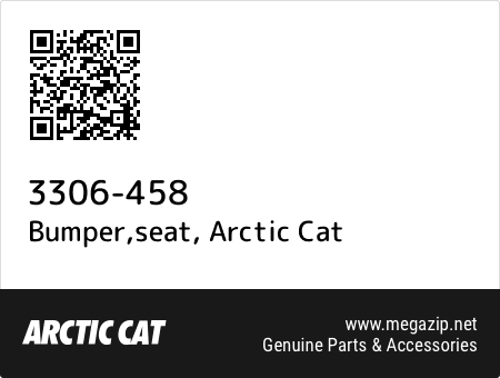 Bumper,seat, Arctic Cat 3306-458 oem parts