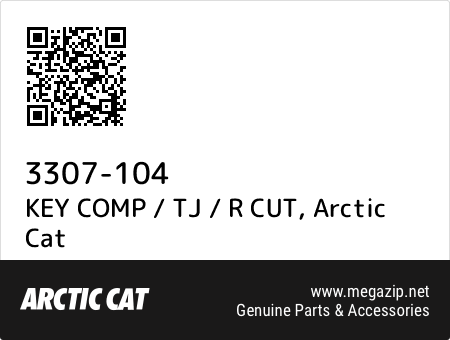 KEY COMP / TJ / R CUT, Arctic Cat 3307-104 oem parts