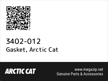 Gasket, Arctic Cat 3402-012 oem parts