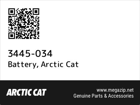 Battery, Arctic Cat 3445-034 oem parts