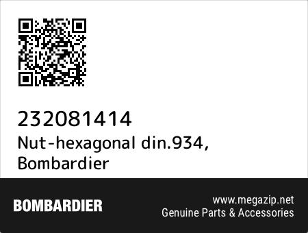 Nut-hexagonal din.934, Bombardier 232081414 oem parts