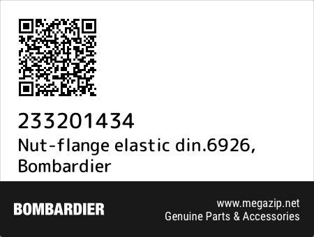 Nut-flange elastic din.6926, Bombardier 233201434 oem parts