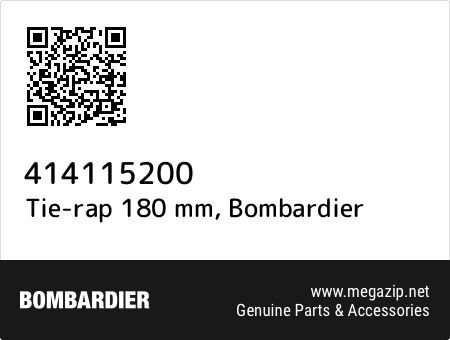 Tie-rap 180 mm, Bombardier 414115200 oem parts