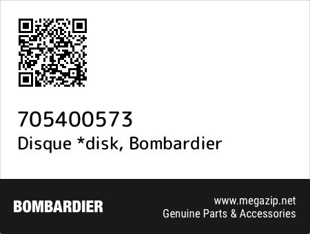 Disque *disk, Bombardier 705400573 oem parts