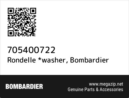 Rondelle *washer, Bombardier 705400722 oem parts