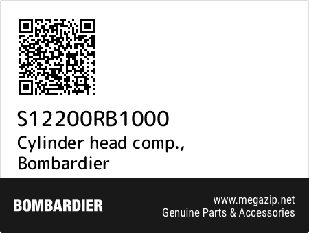 Cylinder head comp., Bombardier S12200RB1000 oem parts