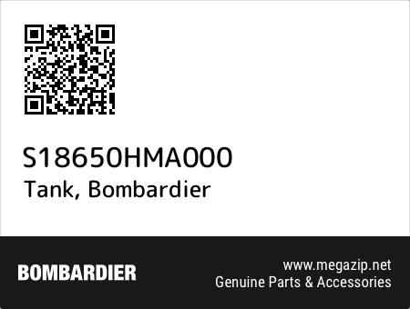 Tank, Bombardier S18650HMA000 oem parts