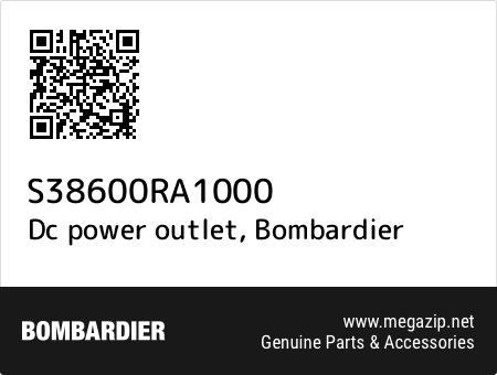 Dc power outlet, Bombardier S38600RA1000 oem parts