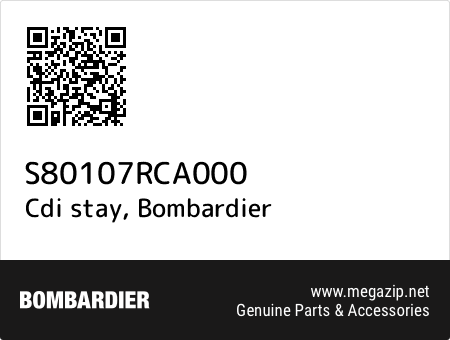 Cdi stay, Bombardier S80107RCA000 oem parts