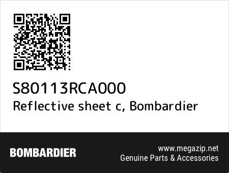 Reflective sheet c, Bombardier S80113RCA000 oem parts