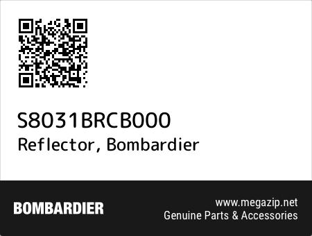 Reflector, Bombardier S8031BRCB000 oem parts