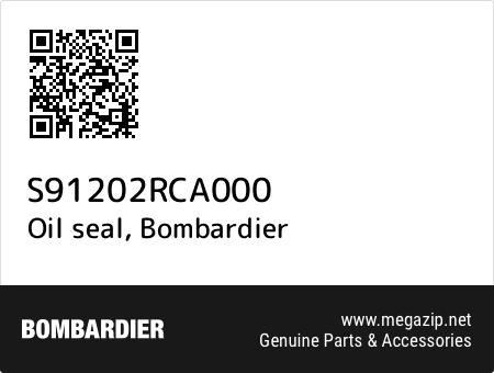 Oil seal, Bombardier S91202RCA000 oem parts