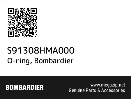 O-ring, Bombardier S91308HMA000 oem parts