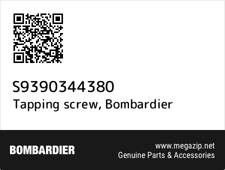 Tapping screw, Bombardier S9390344380 oem parts