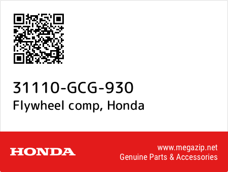 Flywheel comp, Honda 31110-GCG-930 oem parts