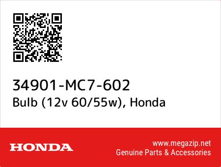 Bulb (12v 60/55w), Honda 34901-MC7-602 oem parts