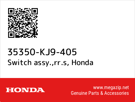 Switch assy.,rr.s, Honda 35350-KJ9-405 oem parts