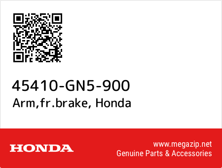 Arm,fr.brake, Honda 45410-GN5-900 oem parts