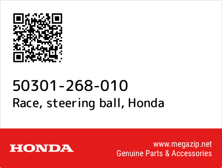 Race, steering ball, Honda 50301-268-010 oem parts