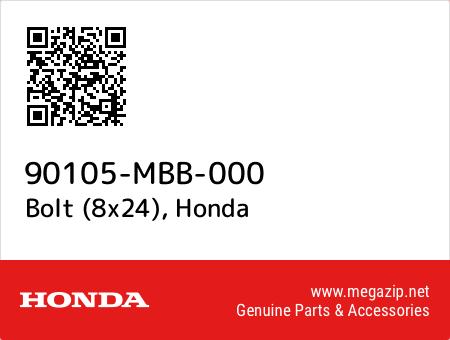 Bolt (8x24), Honda 90105-MBB-000 oem parts