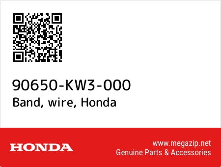 Band, wire, Honda 90650-KW3-000 oem parts