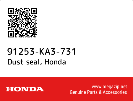Dust seal, Honda 91253-KA3-731 oem parts
