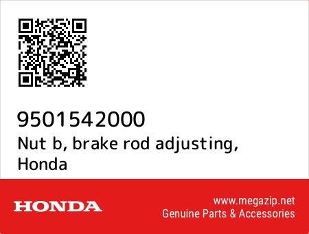 Nut b, brake rod adjusting, Honda 9501542000 oem parts