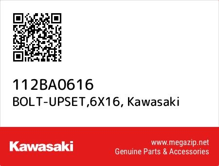 BOLT-UPSET,6X16, Kawasaki 112BA0616 oem parts