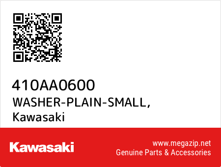WASHER-PLAIN-SMALL, Kawasaki 410AA0600 oem parts