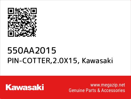 PIN-COTTER,2.0X15, Kawasaki 550AA2015 oem parts