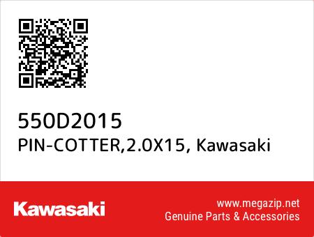 PIN-COTTER,2.0X15, Kawasaki 550D2015 oem parts