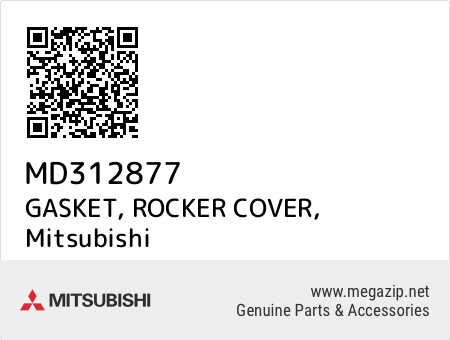 MD312877 Genuine Mitsubishi GASKET,ROCKER COVER