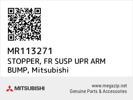 MR113271 Genuine Mitsubishi STOPPER,FR SUSP UPR ARM